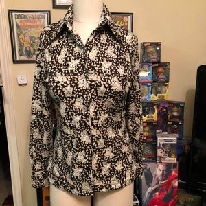 Picato vintage 70s butterfly collar top